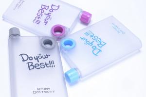 New Flat Botol Minum Isi 595 ml Design Doff