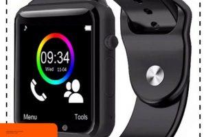 Smartwatch A1 / Smart watch U10 Support Sim Card & Memory Card – Murah – Hitam